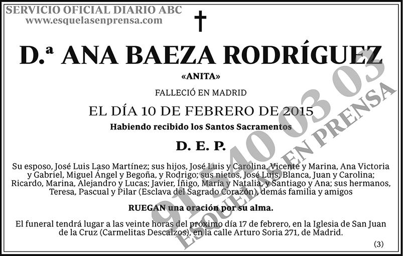 Ana Baeza Rodríguez